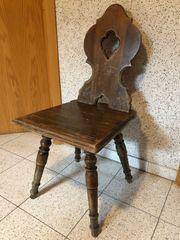 Bauernstuhl Landhausstuhl Stuhl Antik Holzstuhl