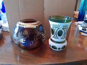 Zwei schicke Vasen aus Glas