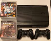PS3 slim 500gb 9 Spiele