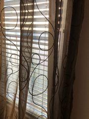 Vorhang 2 Stück dunkelbraun Transparent