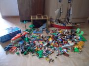 Großes Playmobil Tarn Piratenschiff Piraten