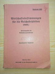 Wirtschaftsbestimmungen für Reichsbehörden RWB 1952