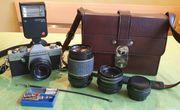 Fotoapparat Praktika TL1000 mit Zubehör