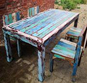 Teak Esstisch Set 4 Stühle