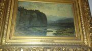 painting Öl auf Holz Gemälde