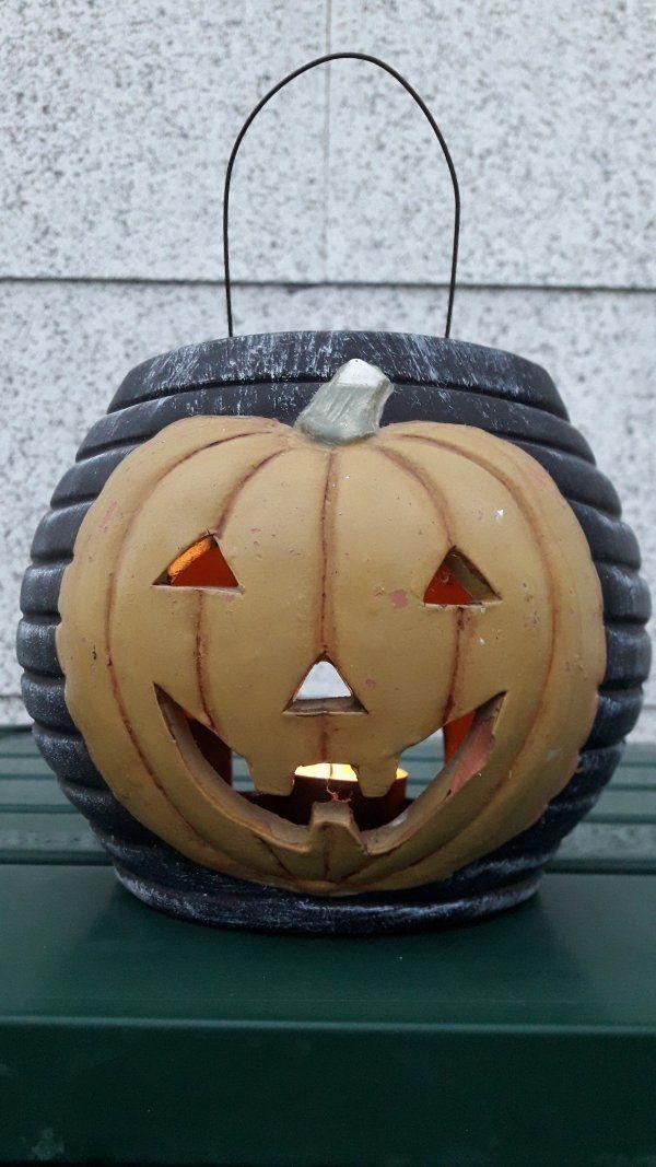 Halloween Windlicht Kürbis