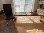 6 Schwingstühle plus Sitzbank
