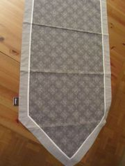 Tischläufer h-grau anthrazit mit Muster