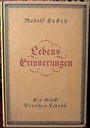 Lebenserinnerungen von Rudolf Eucken 1