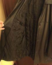 Schwarze Lederjacke Größe 27 kaum