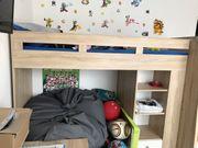 Hochbett Etagenbett mit Schrank und