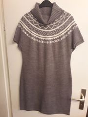 Strickkleid grau Gr 42 Mark