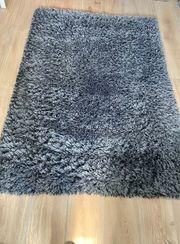 Teppich grau Langflor