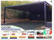 Pavillon Laube Terrasse Dach neu