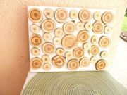 Echtholz Baumscheibenbild 30 x 25