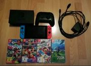 Nintendo Switch mit 4 Spielen