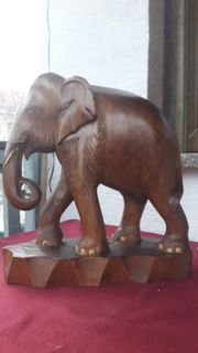 Elefant aus Holz ca 50