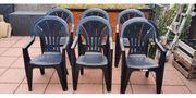 Gartenstühle Stabelstühle mit hoher Rückenlehne -