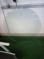 Glasplatte rund weiß Durchmesser 115