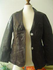 Neue Echtem Leder Damenjacke Gr