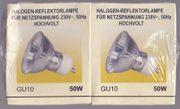 2 x GU-Strahler Halogen-Reflektorlampe Glühbirne