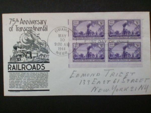 Briefmarken USA Transcontinental Railroads