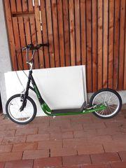 Roller grün mit Luftreifen