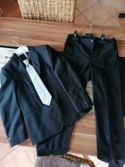 Anzug Kinder schwarz 1x getragen