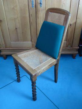 Sonstige Möbel antiquarisch - Antiker Stuhl Klassischer Stuhl Eichenholz-Gewebestuhl