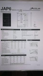 Solarpanel von Sharp Poly 275W