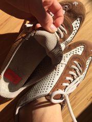 Schuhe Rieker Sneaker weiß braun