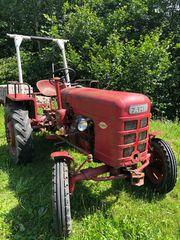Fahr Traktor mit Seilwinde