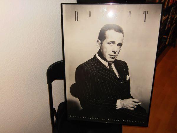 Poster Humphrey Bogart schwarz-weiß mit