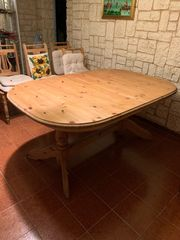 Tisch Kiefer Natur ausziehbar zu