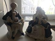 Statuen Paar aus Glas