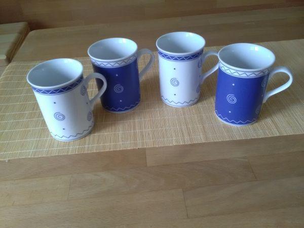 4 Kaffeebecher - Rödermark Urberach - Vier Kaffee Becher. Nur Abholung. Privatverkauf. Keine Garantie. Keine Rücknahme. - Rödermark Urberach