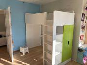 SMÅSTAD Hochbett weiß grün Kinderbett