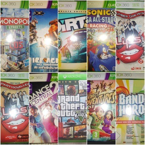 Verschiedene XBox 360 One Spiele
