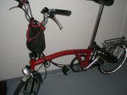 Brompton Fahrrad Faltrad 5-Gang Rot