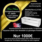 Aquarium Handel 300x60x70cm 1260 L