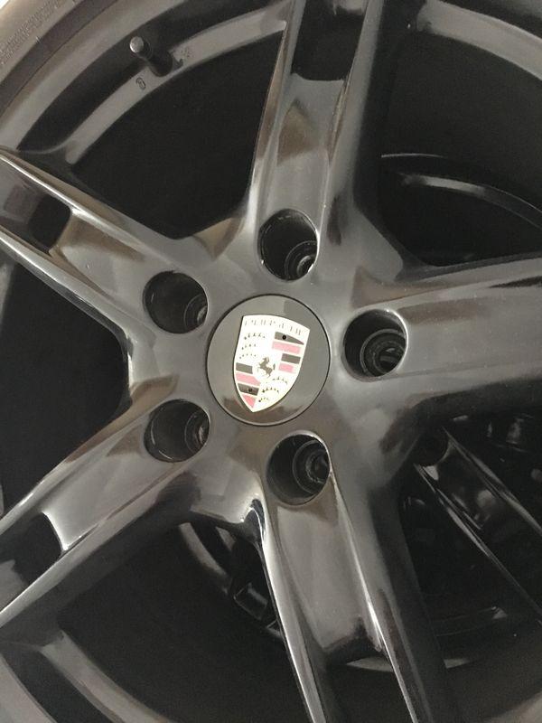 4 Nabenkappen Porsche Felgen Nabendeckel