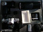 Foto-Ausrüstung mit Alukoffer