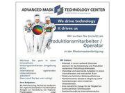 Produktionsmitarbeiter Operator in der Photomaskenfertigung