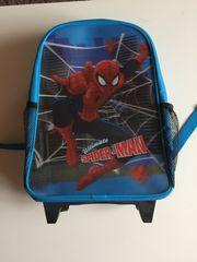 Kindertrolli Spider-Man in blau-rot-schwarz