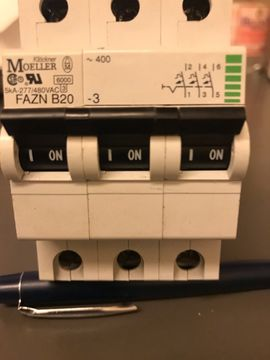 Werkzeuge - Sicherungautomat 3Phasen Möller FAZN B20