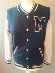College Jacke schwarz und weiß