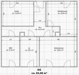 Sanierte 3-Zi-Hochparterre-Wohnung mit Einbauküche in Glauchau