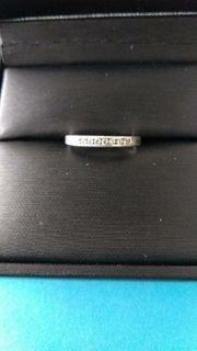 Silber Ring 8 Strasssteine 925er