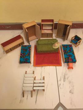 Puppen - Puppenhaus 80x50x60 cm mit Einrichtung