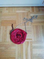 Rosen Handtasche Clutch Umhängetasche